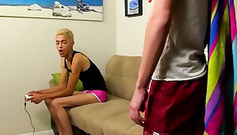 Skinny twink with hairy legs is getting spanked