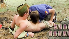 Teen gay friends are passionately fucking in the woods